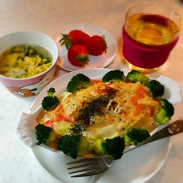韓国で自炊、ある日の夜ご飯