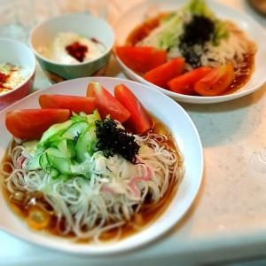 韓国で冷麦ランチ