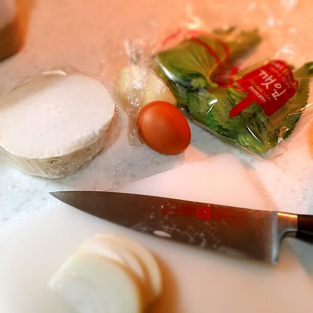 大根と卵と玉ねぎサラダ材料