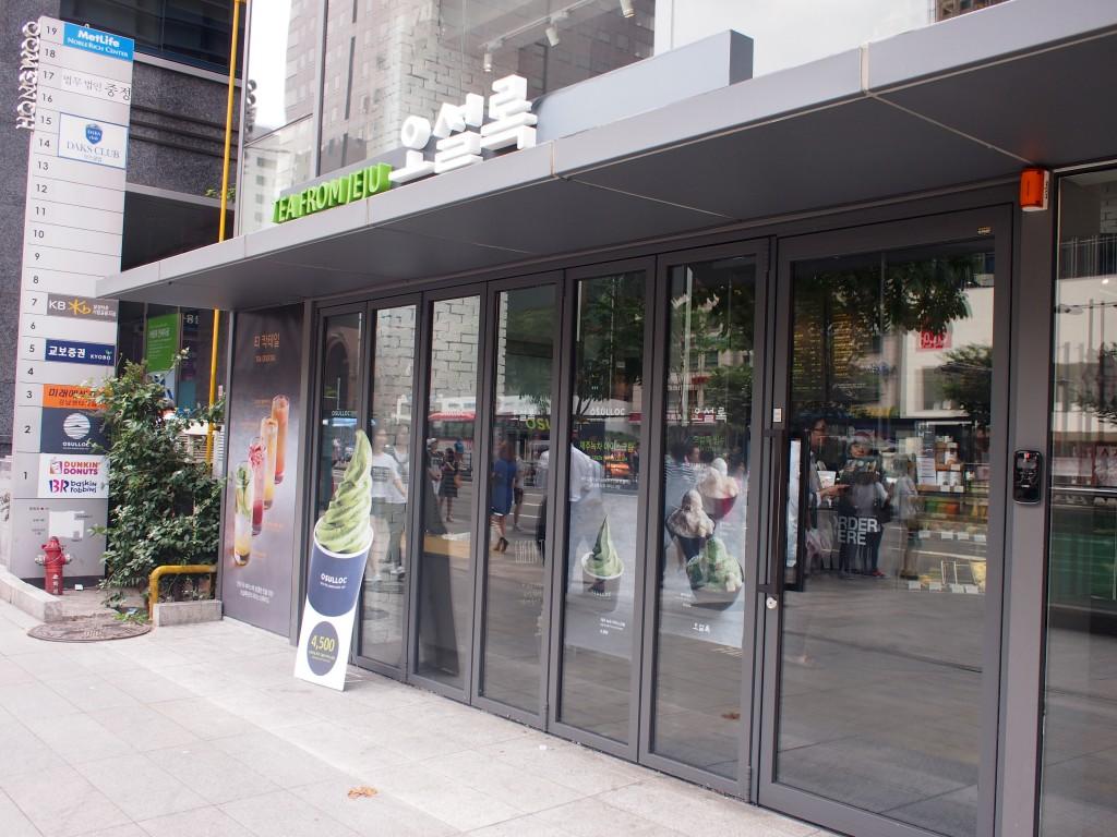 OSULLOCカンナム店、外観