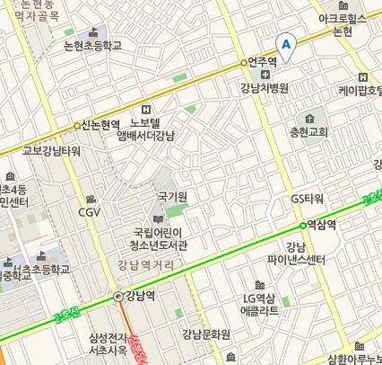 Blancoアクセス広域地図