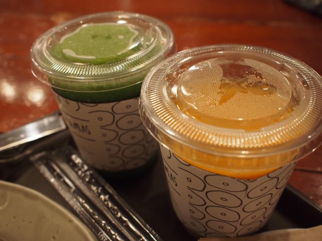 Cafe MAMASケールとマスカットのジュース