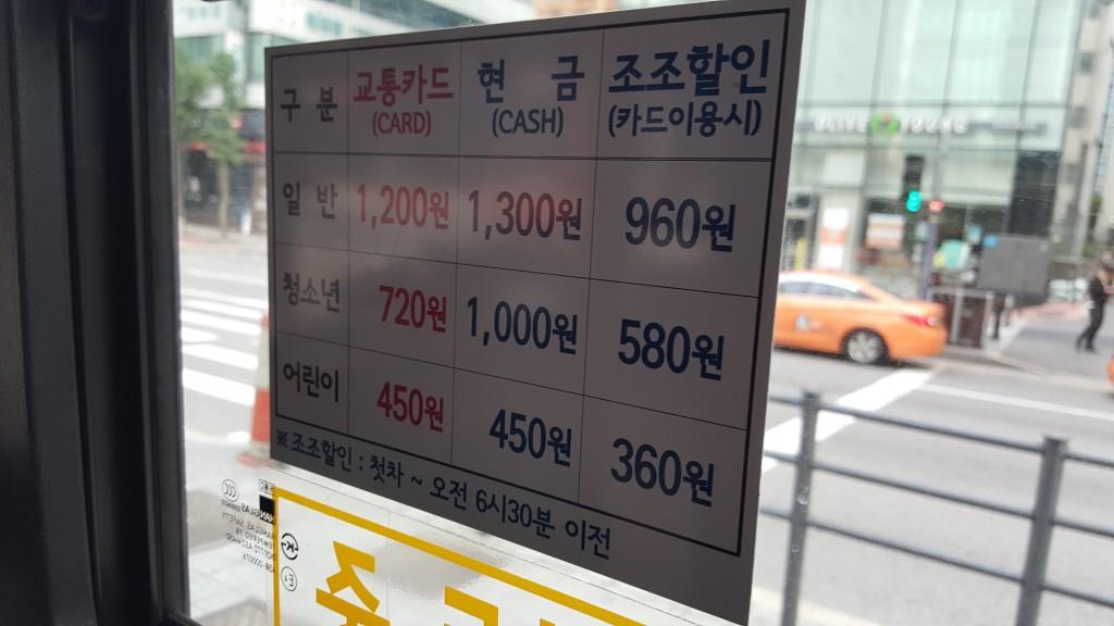 ソウルバスの値段@現金とカード