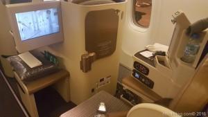 【エティハド航空】ビジネスクラス搭乗記…座席+機内食など!